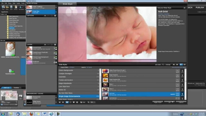 Proshow producer Interface