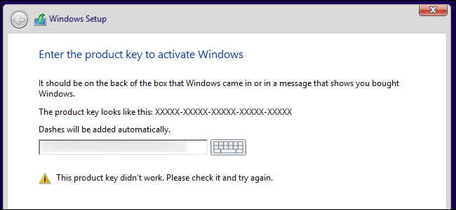 Working Windows 7 Key Activation Dialog Box