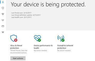 Turn off windows defender summary notification creator update