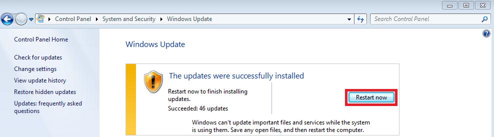 Manually Install Win 7 Updates