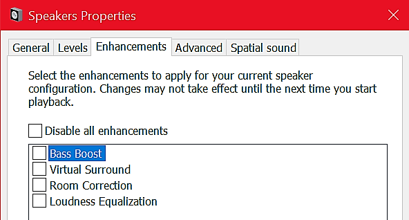 Default Sound Equalizer forWindows 10