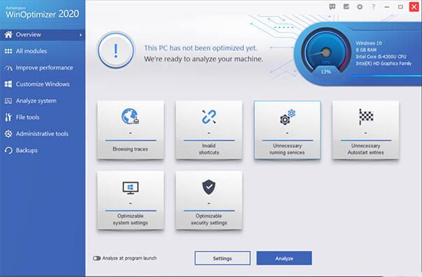 Ashampoo WinOptimizer full version free download for Windows PC