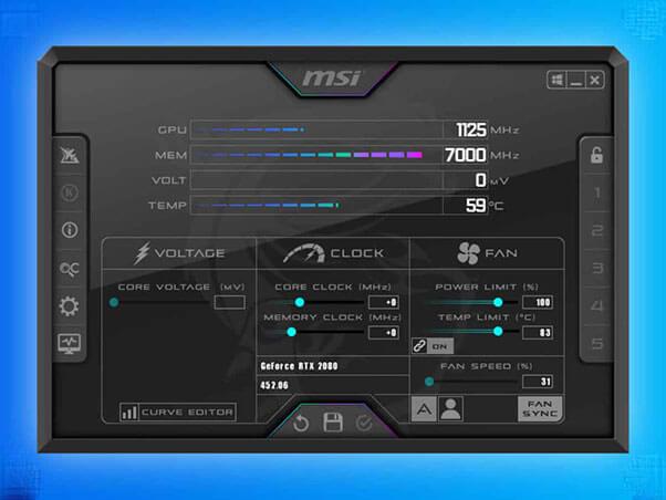 Download MSI Afterburner to change CPU Fan Speed