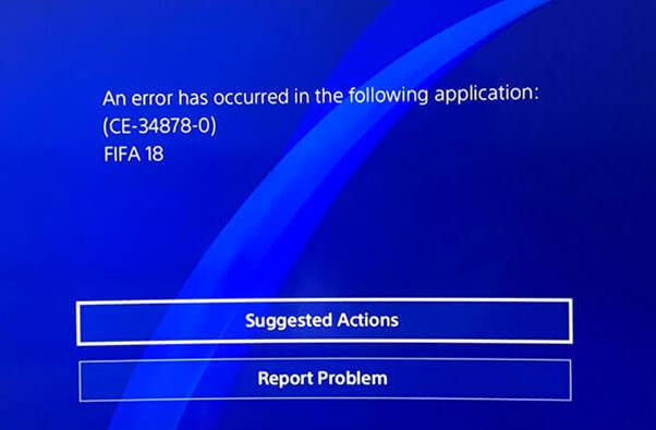 Fix PS4 Error Code CE-34878-0