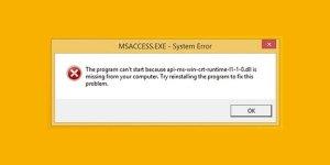 Fix api-ms-win-crt-runtime-l1-1-0.dll missing