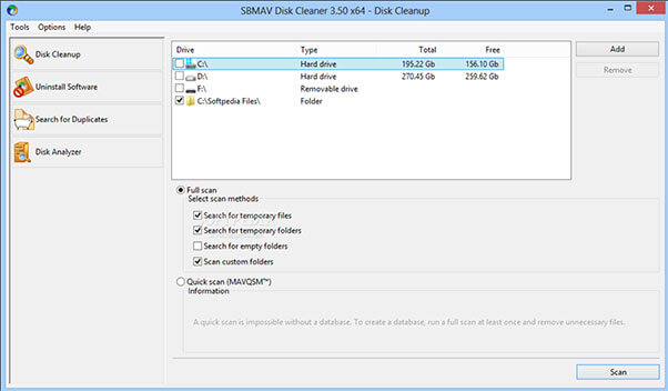 SBMAV Disk Cleaner Lite Free Download