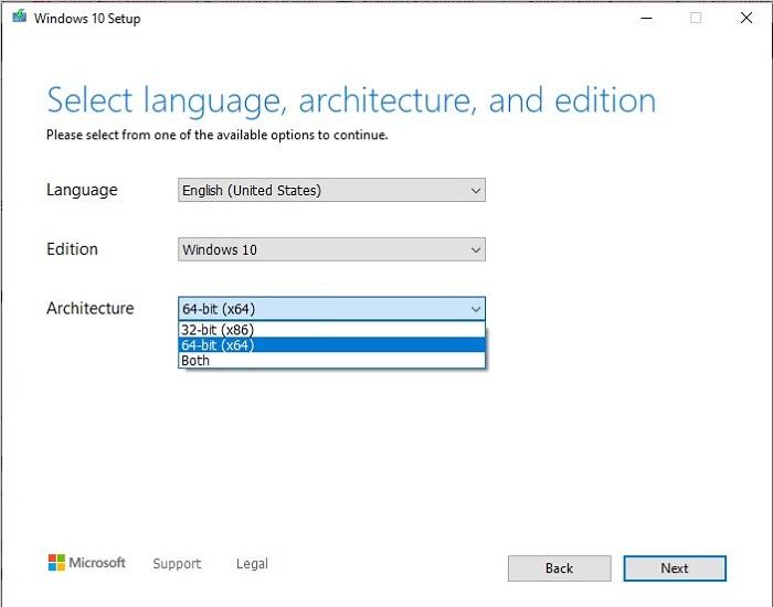 windows 10 Media Creation Tool Step 3