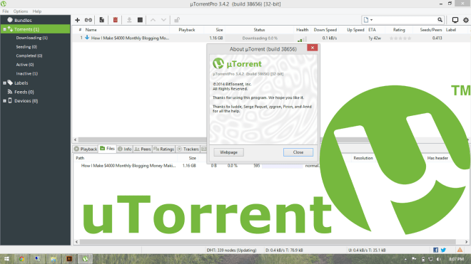 uTorrent 3.5.3 Beta 44484 Crack Full Version Free Download