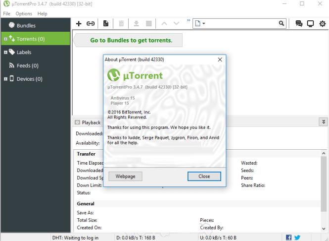 uTorrent 3.5.4 Build 44498 Crack