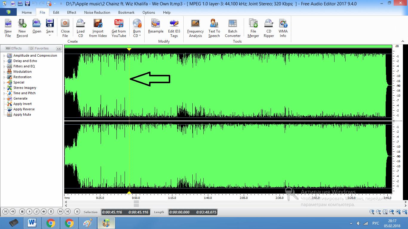 Comment récolter l'audio en éditeur audio gratuit