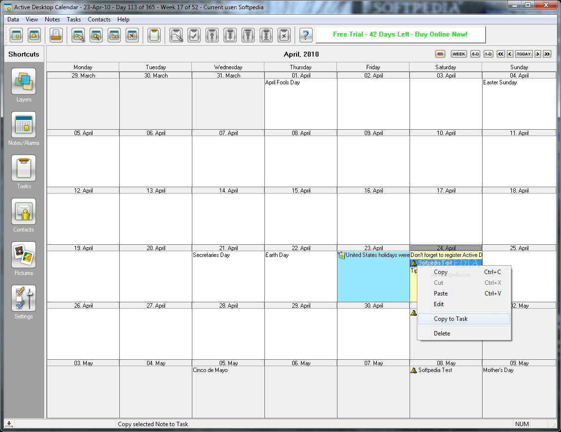 Active desktop calendar 5.99a build 060314