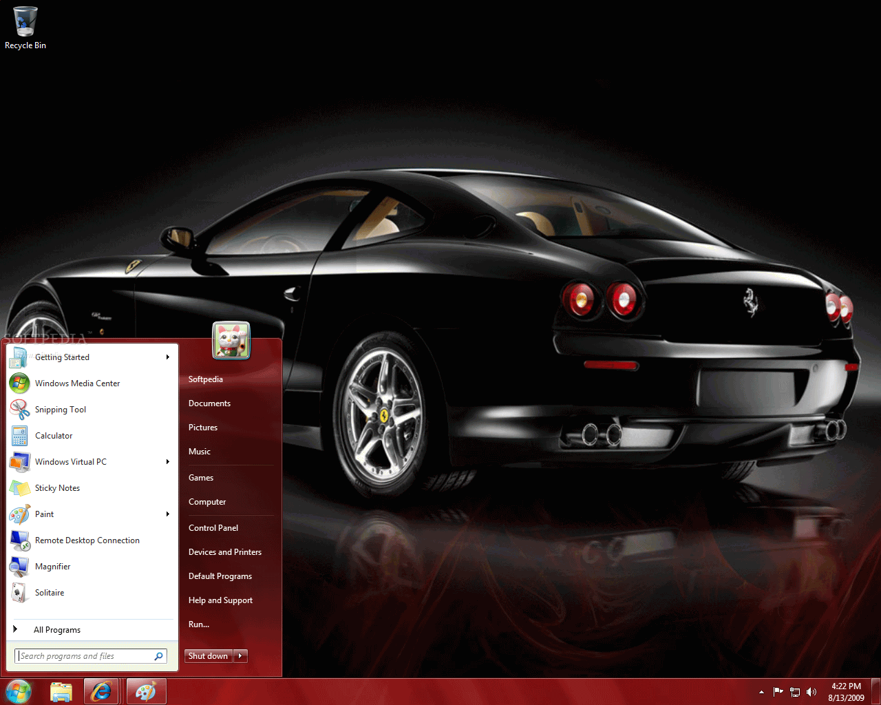 Download Themes Windows 7-Ferrari Sports Cars
