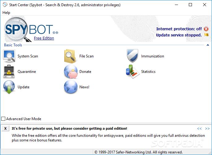"""A imagem """"https://i2.wp.com/www.softpedia.com/screenshots/SpyBotSearch-Destroy_1.png"""" contém erros e não pode ser exibida."""