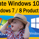 Activate Windows 10 With Windows 7 / 8 Product Key Till 31 Dec 2017