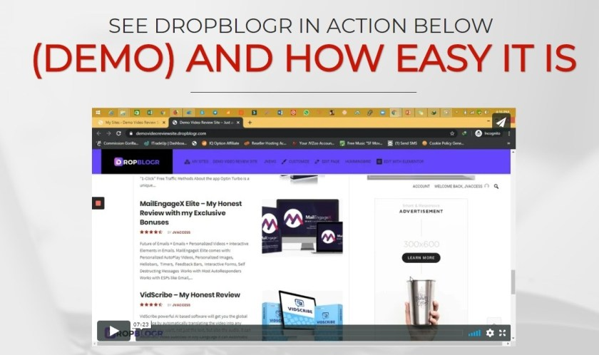"""DROPBLOGR: GET""""3 Figure Daily With DFY, Fully Fledged Affiliate Blogs & Ultra Cheap Adwords Clicks"""""""