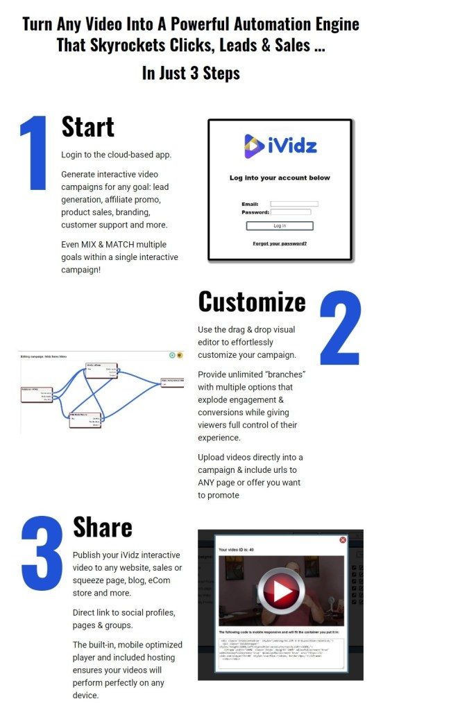 iVidz is a cloud-based interactive video player & hosting platform that lets anyone ... regardless of skill or experience, maximize video engagement & conversions for any marketing goal, faster & easier than ever before possible