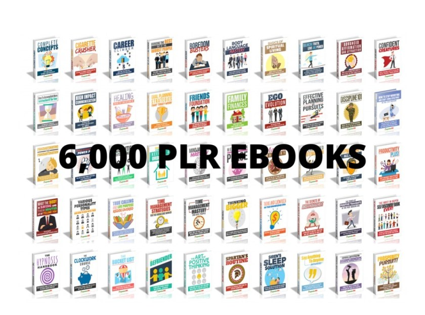 High Quality 6,000 ebooks with Full Private Label Rights