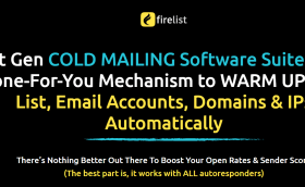 FireList is a next-generation cold email platform with a done-for-you automated engine to warm up your email list, your email accounts, domains and IPs - fully automatically!
