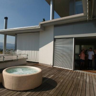 Installation d'un spa sur un balcon