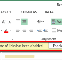 Linked Excel Files and SharePoint