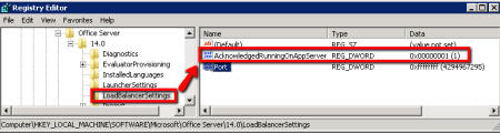 SharePoint Document Conversion Load Balancer Settings - AcknowledgedRunningOnAppServer Key