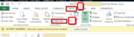 Microsoft Excel - Edit Linked Files