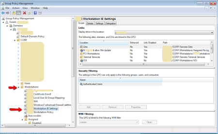 Active Directory - Group Policy Management Console