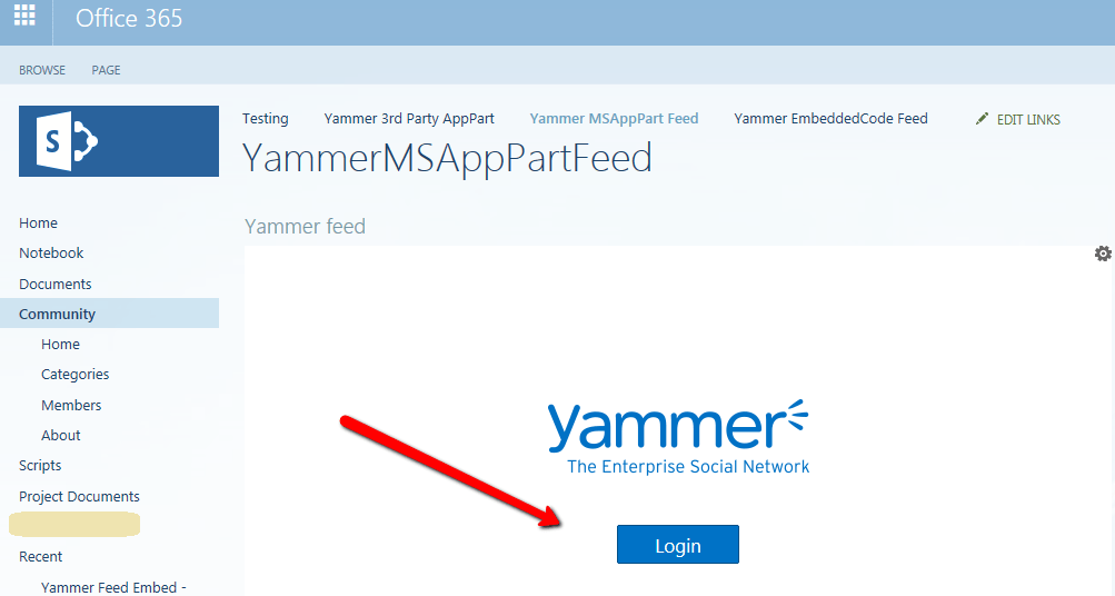 Yammer Feed Integration with SharePoint Online Common Issues