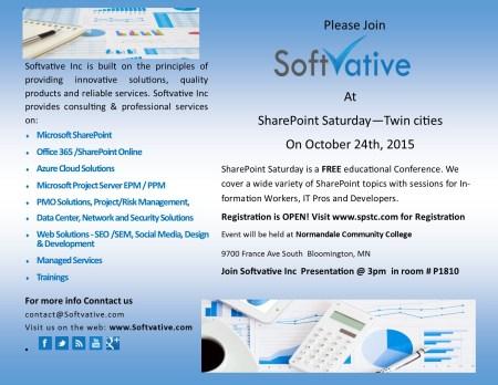 Softvative Sharepoint Saturday 2015
