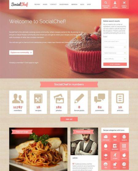 SocialChef Theme