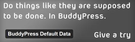 BuddyPress Default Data