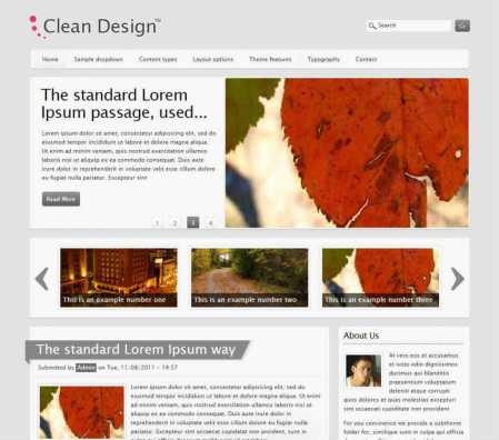 Clean Design Drupal Theme