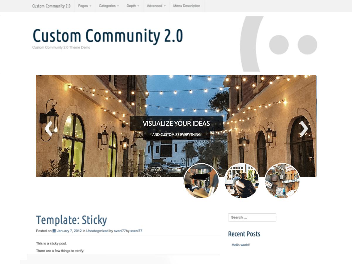 Custom Community Theme