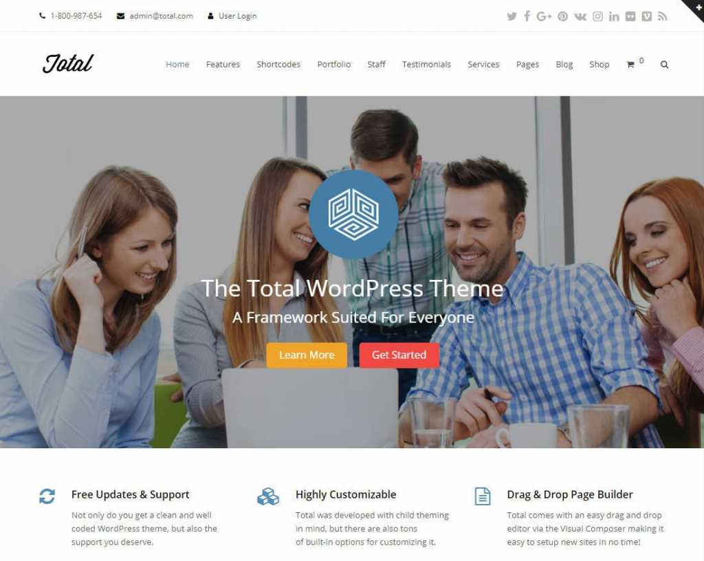 Total Multipurpose Theme