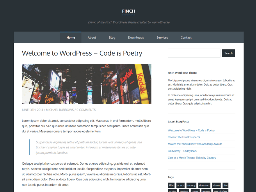 Finch WordPress Theme
