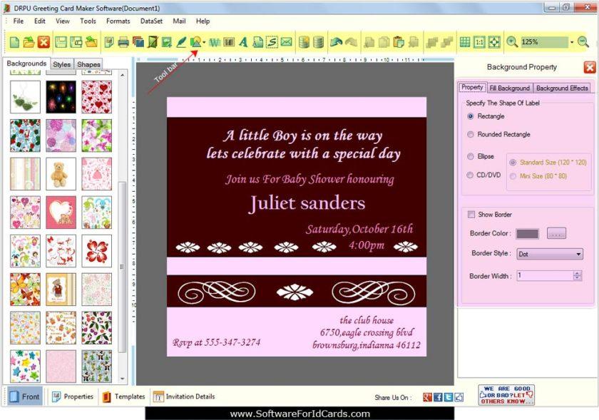 Greeting Cards Designing Software