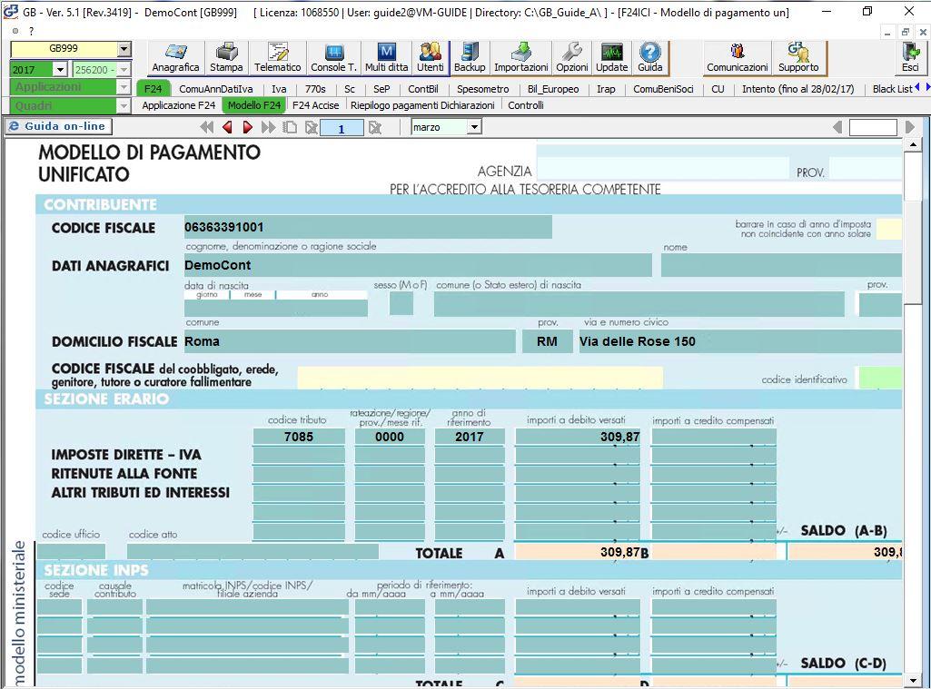 F24 Telematico Integrato Gb
