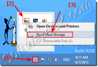 remove storage via Windows-8 tray icon