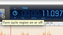 Activate region loop tool with GarageBand
