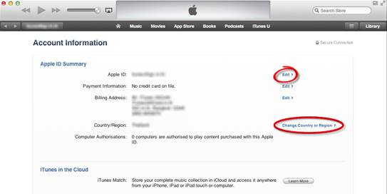 change Apple account ID email