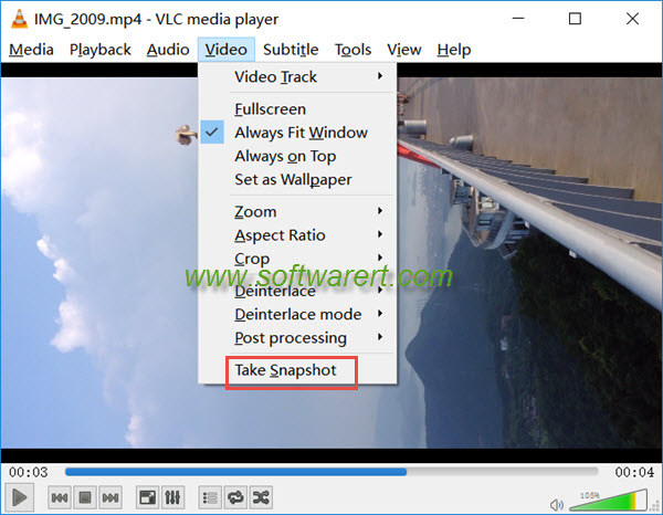 take video snapshot in vlc media player for windows