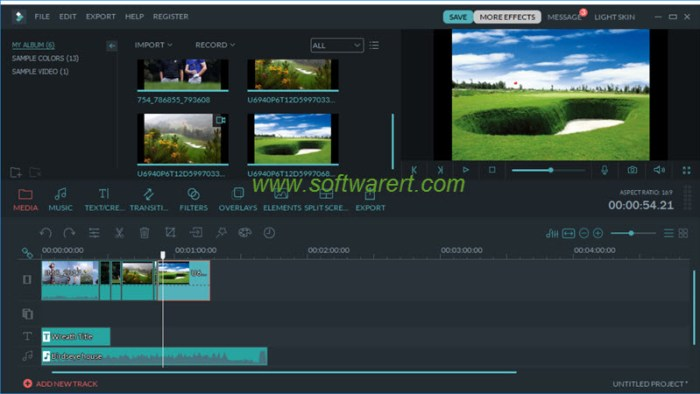 filmora video editor main interface