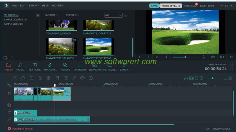 filmora video editor for mac main interface