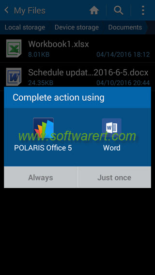 samsung phone complete action using - apps selection