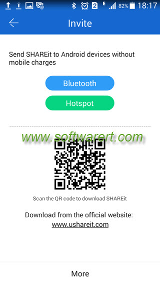 send shareit app to android phones