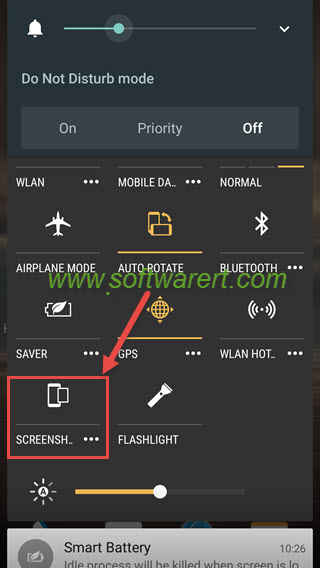 htc mobile phone to take screenshot