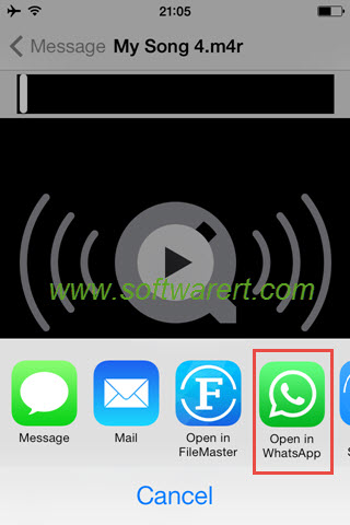 send music songs from email to whatsapp on iphone