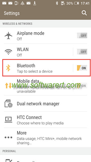 turn on bluetooth from settings on htc mobile phone.png