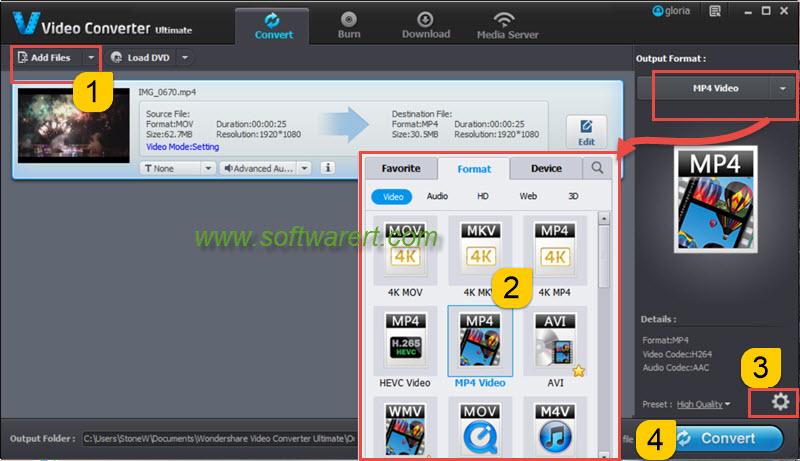 convert mov to mp4 video on windows pc
