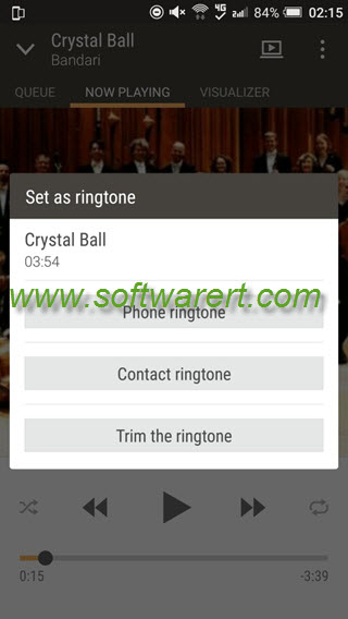 set a song as ringtone on htc mobile phone